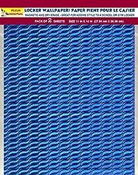 Magnetic Locker Wallpaper (Full sheet Magnetic) Dry Erasable - Glitter Sparkles Designs, Holographic - Pack of 2 Sheets - v6