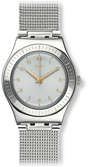 Swatch Reloj Digital para Mujer de Cuarzo con Correa en Acero Inoxidable YLS187M