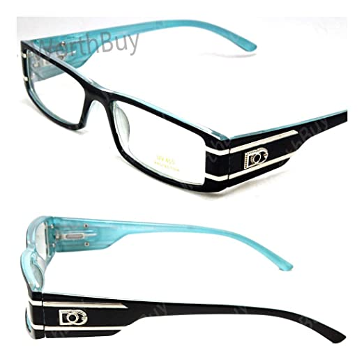 9407c5d677b5 Amazon.com: DG Eyewear Clear Lens Eye Glasses Fashion Designer Mens Womens  Small Frame: Clothing