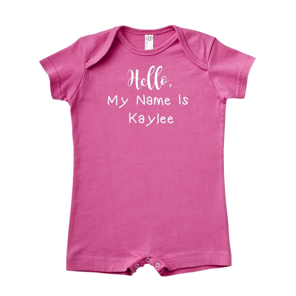 Mashed Clothing Hello Personalized Name Baby Romper My Name is Kaylee