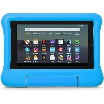 Funda infantil para tablet Fire 7 (compatible con la 9.ª generación - modelo de 2019), azul