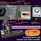Yoli® Commercial Automatic Donut Maker Making Machine, Wider Oil Tank Donut Machine, 3 Sets Mold