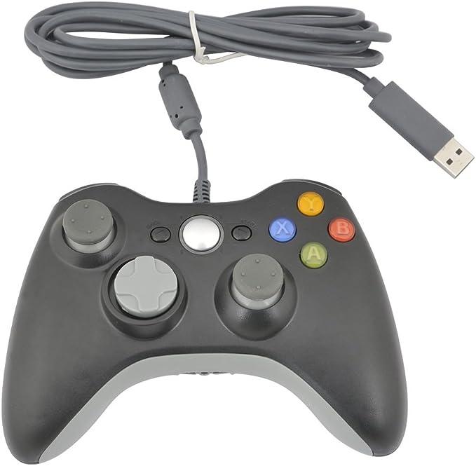 Generic Wired USB Controller for PC & Xbox 360 (Black) [Importación Inglesa]: Amazon.es: Videojuegos