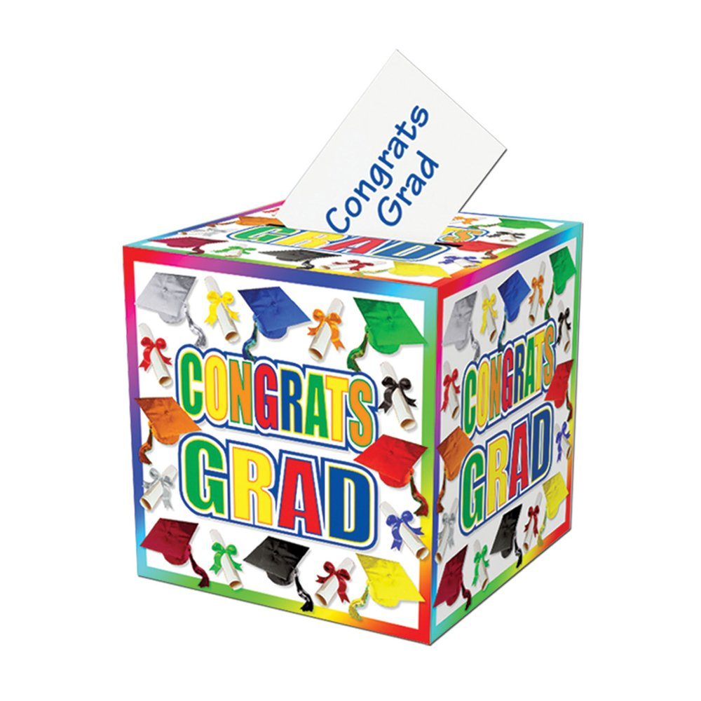 Beistle Party Decoration Graduation Card Box 12'' x 12''- Pack of 6
