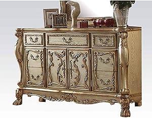 Zebery Acme Dresden Dresser in Gold Patina & Bone 23165