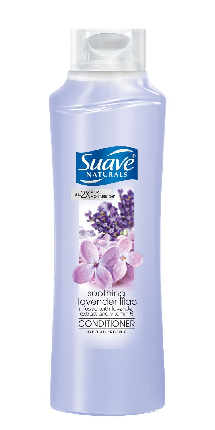Suave Naturals Conditioner, Lavender and Lilac 12oz (Pack of 4)