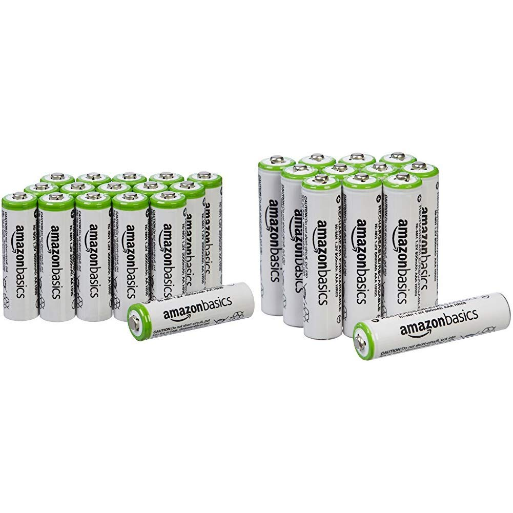 - Packaging May Vary 16-Pack 12-Pack Basics AA Rechargeable Batteries - Packaging May Vary /& AAA Rechargeable Batteries