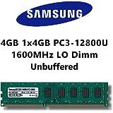 Samsung 4 GB (1 x 4 GB) DDR3 1600 mhz (PC3 12800U) LO DIMM PC del ordenador de sobremesa de memoria RAM
