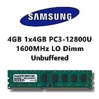 Samsung 4GB (1 x 4Go) dDR3 (pC3 1600MHz 12800U lO dimm pour pC ordinateur mémoire rAM de bureau