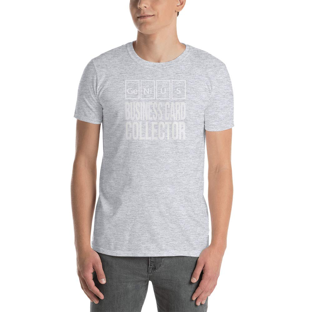 Genius Business Card Collector Periodic Table of Elements Short Sleeve Unisex T Shirt