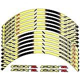 2014 suzuki gsxr 1000 stickers - Yellow 10 X CUSTOM RIM DECALS WHEEL Reflective STICKERS STRIPES For Suzuki GSXR Gixxer 1000 1300 600 750