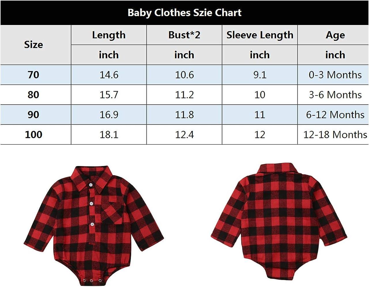 CIYCUIT Baby Boy Girl Flannel Print Plaid Shirt Long Sleeve Button Romper Bodysuit Clothes