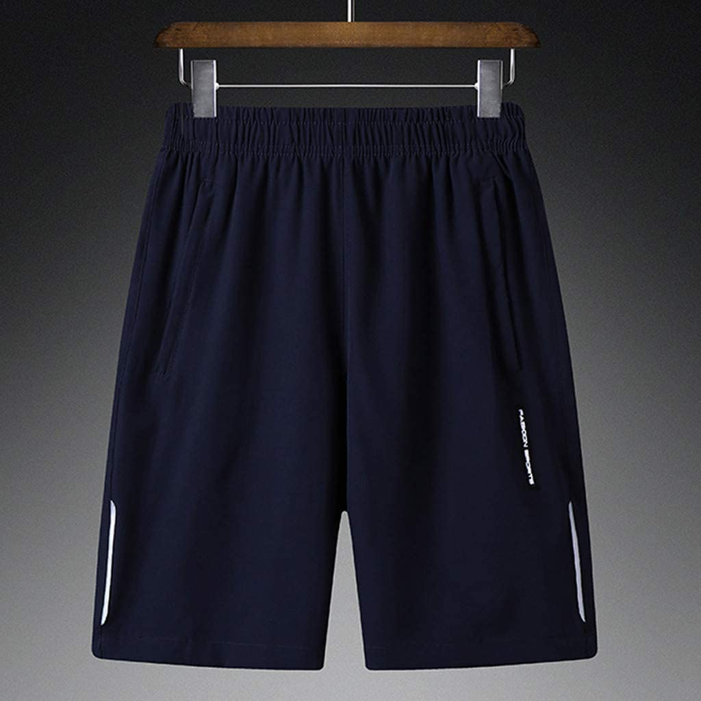 iLXHD Short Pants Plus Size Mens Summer Thin Fast-Drying Beach Trousers Casual Sports