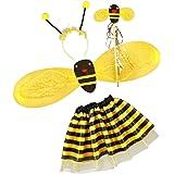 Gazechimp Set de 4pcs Costume Ailes d'Abeille Fantaisie Filles Enfants Costume de Fête Cosplay Halloween