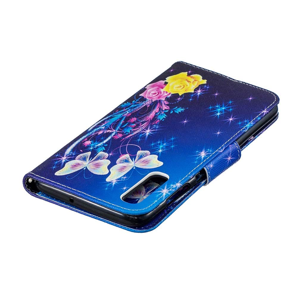 Schl/üsselband Coopay Vintage Blau Wei/ß Blume Brieftasche f/ür Samsung Galaxy A70,Karten Slot Standfunktion Magnetverschluss H/ülle,Klappbar Kunstleder Handytaschen,Praktisch Sto/ßfest Schutzh/ülle