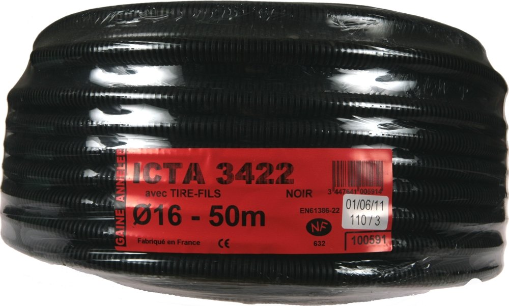 Janoplast JAN007445 Gaine ICTA avec tire fil//lubrifi/ée 100 m Diam/ètre 25 mm