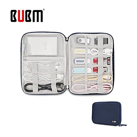c1f21bd6a033 BUBM Universal Electronics Accessories Organizer, Travel Gear Carry Bag for  Cables, USB Hard Drive