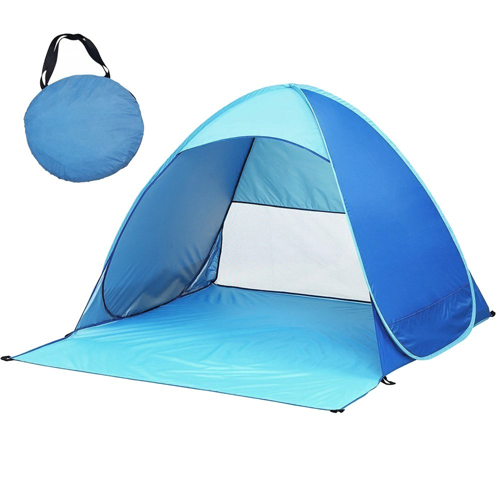 ext/érieur ultra-l/éger pliant automatique tente ouverte cabane pour b/éb/é tentes abri soleil pour les activit/és familiales touriste//jardin//Camping//p/êche//Beach Times anti-UV wigwam Pop up tente