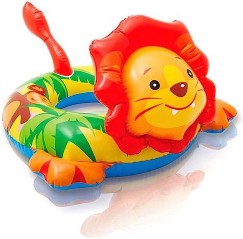 Intex Inflatable Animal Swim Ring Swimming Pool Float Lion Shape