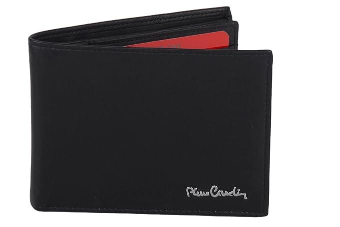 Cartera hombre PIERRE CARDIN negro en cuero con porta cheques A5520: Amazon.es: Ropa y accesorios