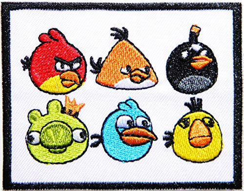 Angry Bird Patch Iron on Sewing Embroidered Applique Logo Badge Sign Embelm Costume Craft Gift