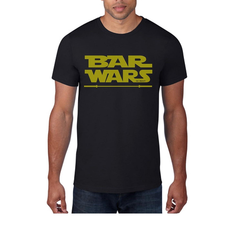 Go Heavy Men SustainableTM Tee Shirt - BAR WARS - black