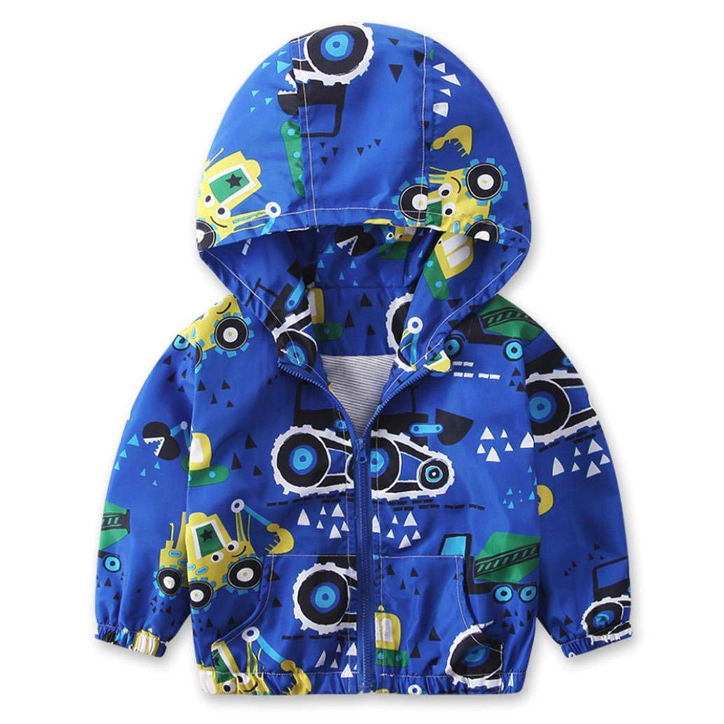 Moonper Children Kids Baby Boys Girls Winter Warm Hoodie Coat Clothing Jacket Outerwear Windbreaker Clothes with Zipper