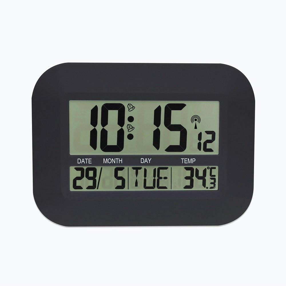 LCD Large Radio Controlled Digital Wall Clock Table Desktop