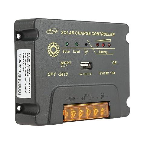 Amazon com : Y&H MPPT 10A Solar Charge Controller for 12V/24V