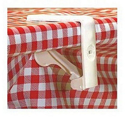 COGHLAN'S 9211 RV Trailer Camper Outdoor Living Tablecloth Clamps Plastic 4/Pack