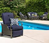 Cheap Hanover Outdoor Ventura Outdoor Luxury Recliner, Navy Blue