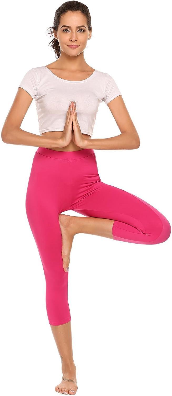 Aimado High Waist Yoga Capris Pants Tummy Control Workout Running 4 way Stretch Yoga Leggings S-XXL