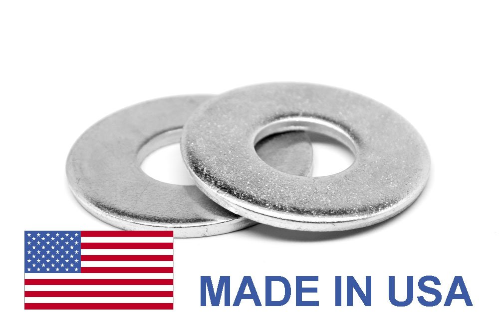 1/4'' Grade 8 Flat Washer USS Pattern - USA Medium Carbon Steel Zinc Plated Pk 100