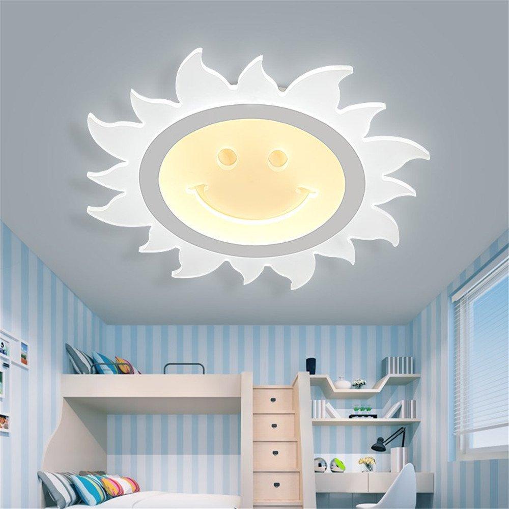 BRIGHTLLT Kinder Lampen Schlafzimmer Eye Care Kinderzimmer lampe led Sun Mädchen schlanke Prinzessin kreative Cartoon, 550 mm Deckenleuchte