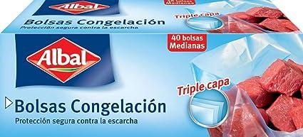 Albal Bolsa de Congelación de Alimentos, Tamaño Mediano - 40 ...