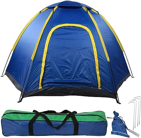 Tienda de Campaña Familiar 4 Personas, Tienda de Campaña Grande Portátil Impermeable Tienda de Campaña Instantánea Camping Pop Up Tiendas Iglú para Playa Acampar Picnic al Aire Libre: Amazon.es: Deportes y aire