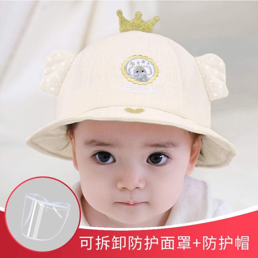 HZAMING Cappello Bambino Traspirante Coperchio antispruzzo per Bambini Protezione del Viso Cappuccio Antipolvere Rimovibile