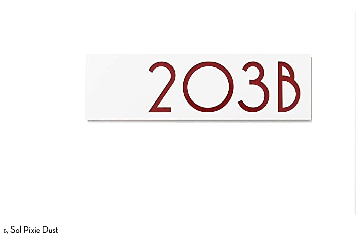 Amazon.com: Modern House Numbers - Apartment door signs ...