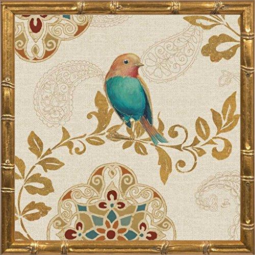 12x12 Bird Rainbow Teal by Brissonnet, Daphne: Gold Bamboo 28617