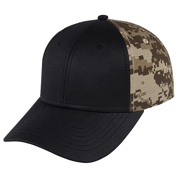 Digital Camouflage PU Coated Canvas Crown and Ripstop Back Low Profile Cap  - DESERT be3c4d92e5dd