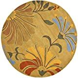 Safavieh Soho Collection SOH826A Handmade Golden Olive Premium Wool Round Area Rug (6′ Diameter)