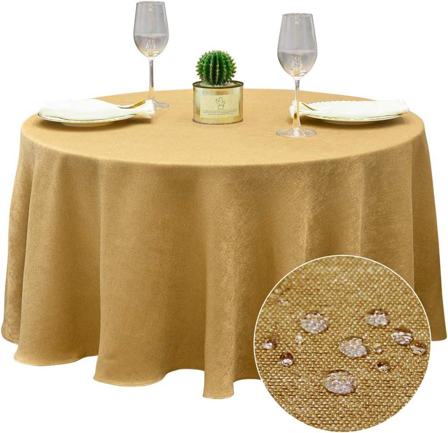 BALCONY /& FALCON Tovaglia Tonda Antimacchia 180cm Tovaglie Rotonda Impermeabile Elegante per la Decorazione di Matrimonio//Compleanno//Battesimo del Bambino//Eventi