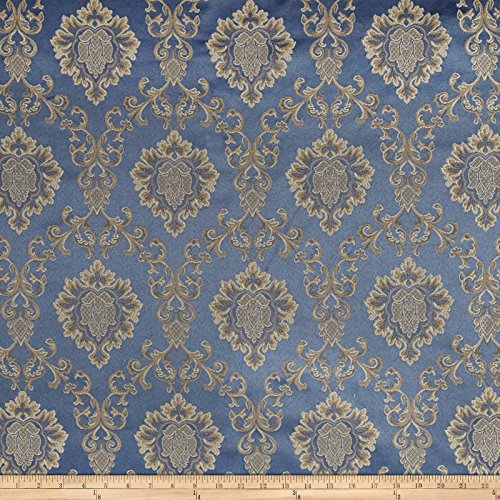 Europatex Damask Jacquard Cobalt Fabric by The Yard