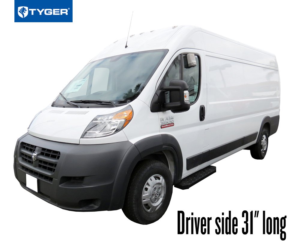 Driver side 31 long /& Passenger side 96 long Tyger Auto TG-RB2D1103B Van Running Boards for 2014-2019 Dodge Promaster 136//159 wheel base Cargo Van