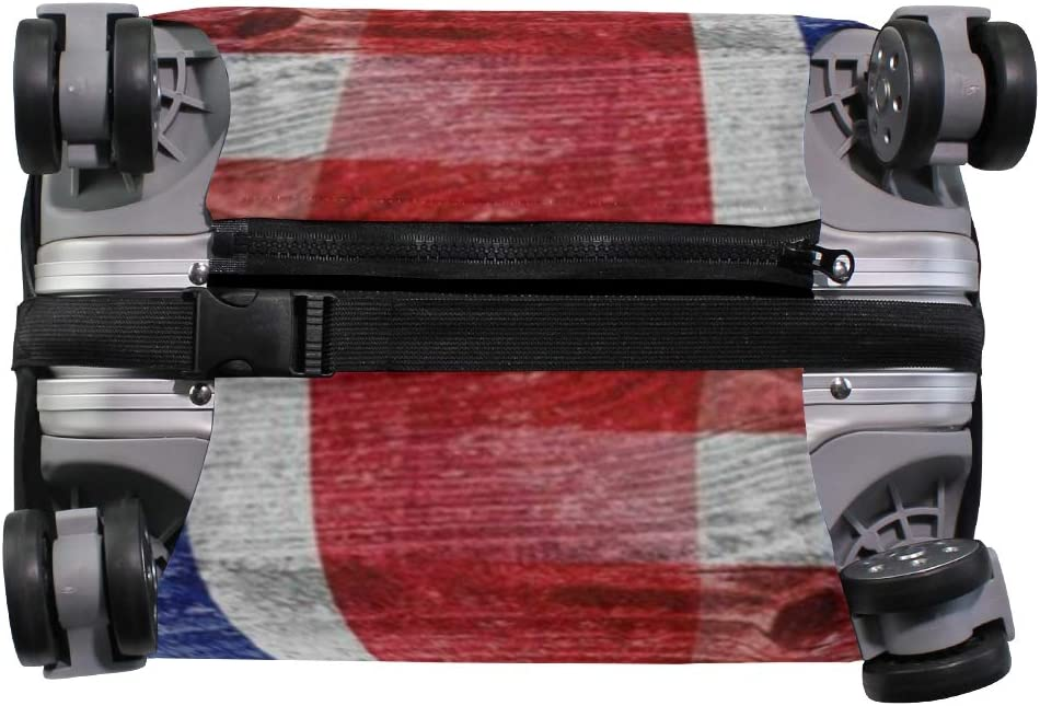 Suitcase Cover American Flag Happy Independence Day Luggage Cover Travel Case Bag Protector for Kid Girls