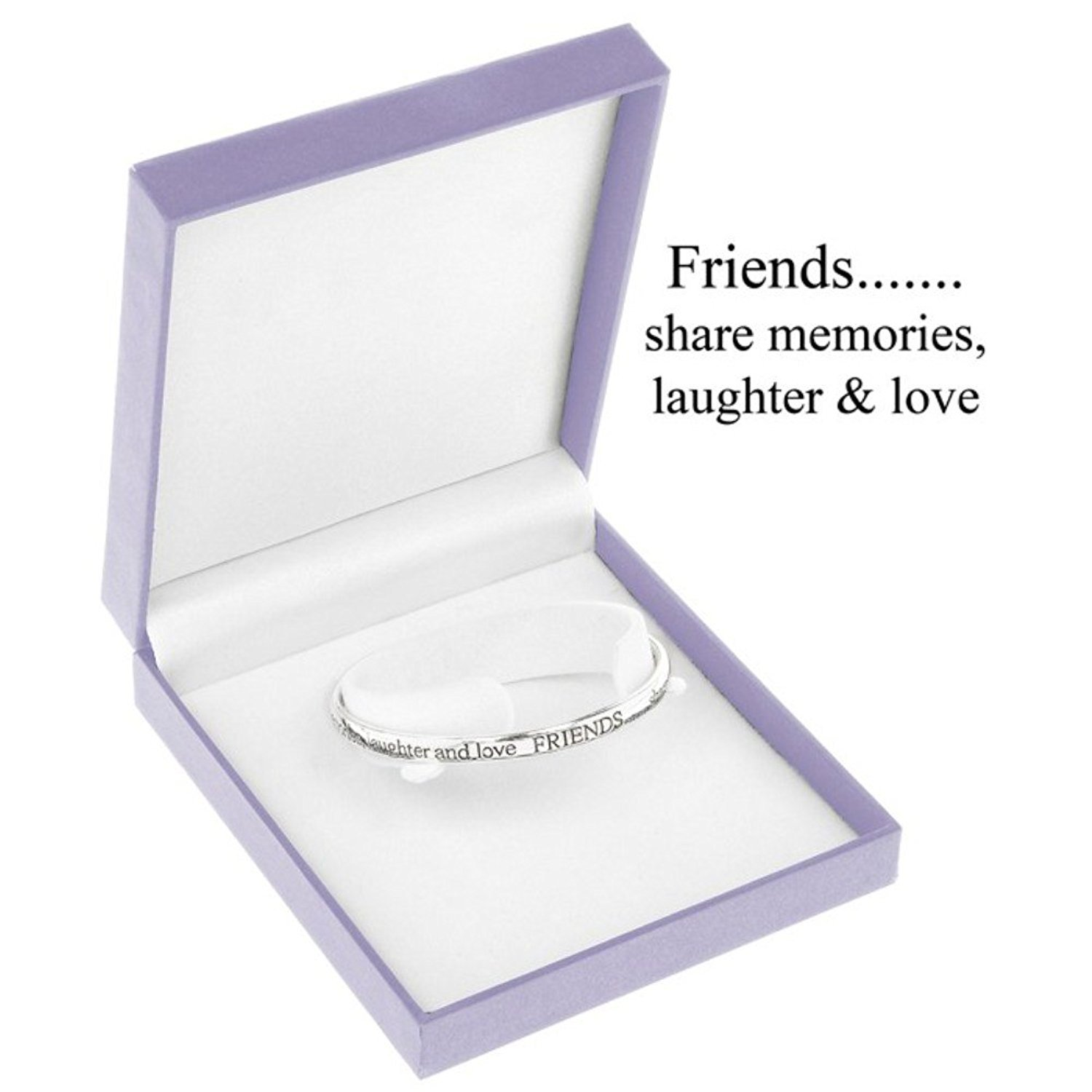 Equilibrium Jewellery - Silver Plated Friends Bangle Ea4463yYdi