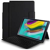 Luibor Samsung Galaxy Tab S5E 10.5 Inch Funda de Teclado Funda de Soporte Frontal con Teclado Desmontable para Samsung Galaxy Tab S5E 10.5 Inch (Wi-Fi) & (4G LTE) Tableta (Negro)
