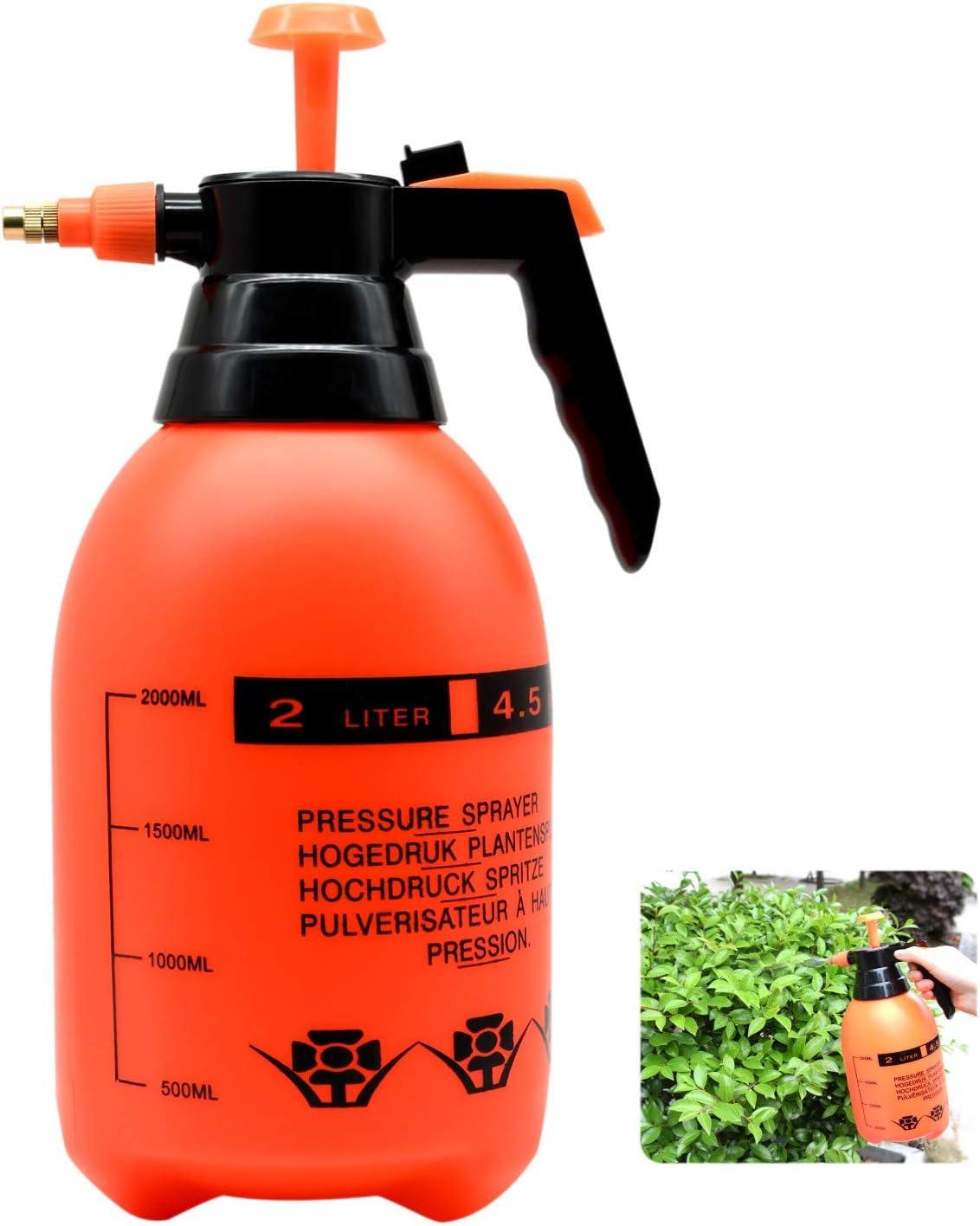 ZHONG AN Pulverizador 2L con Boquilla de latón Ajustable, atomizador de Bomba Blumensprüher, Plantas, hogar y jardín