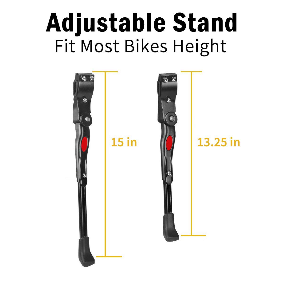 Bicycle Stand Bicycle Stand Mountain Bike and Road Bike Adjustable Length Suitable for Most Black Bicycle Accessories City Bike Child Bike Bike Adult Bike