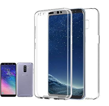 Planetmovil Compatible con Samsung GALAXY A6 PLUS - 6 PULGADAS - Funda Carcasa Doble Cara 360 de Silicona Delantera + Trasera TPU rigido Doble 100% ...